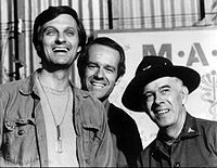 Harry Morgan As Colonel Potter in M*A*S*H with Alan Alda and Mike Farrell.