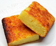 Gâteau de manioc de la Réunion cuit au four