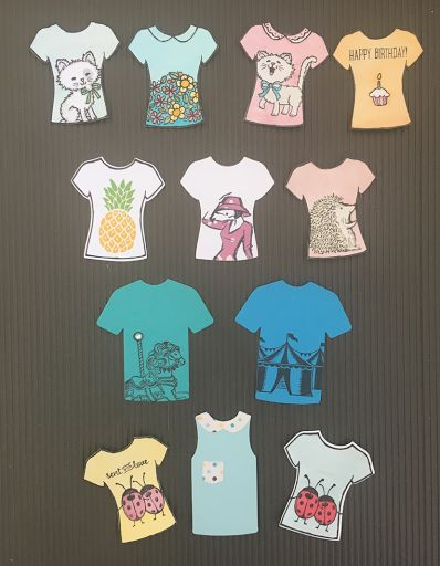 Look at these cute T Shirts!! They have been made using the Custom Tee Bundle, which is available in the Stamin' Up! 2017 Occasions Catal...