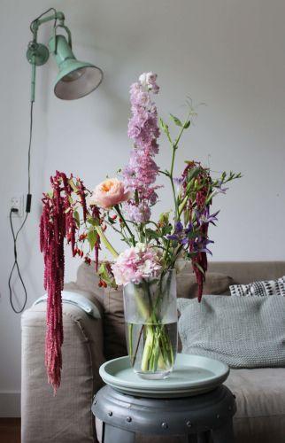 Judith Slagter - Pink & Red // judithslagter.nl // #boeket #papaver #summer #zomerboeket #amaranthus