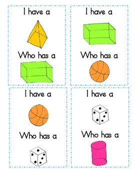 I Have Who Has 2D and 3D Shapes Game - Jeanette Mueller - TeachersPayTeachers.com