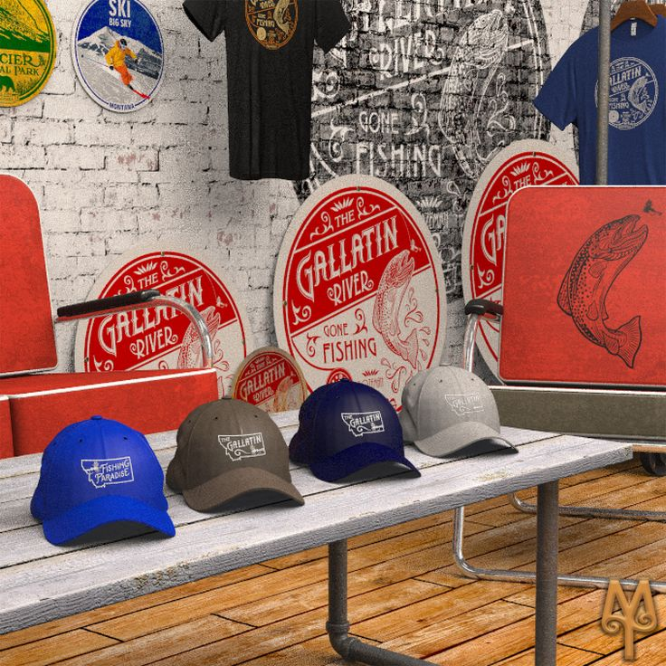 Fly Fishing Baseball Caps by Montana Treasures...The perfect way to remember your once in a lifetime trip to Montana. Shop now! :)