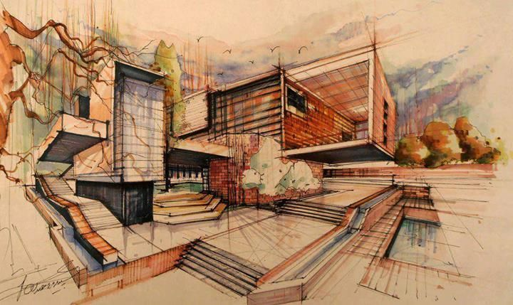 Hand Made Drawings are still the best Art in Architecture | Architecture Admirers