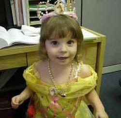 Playing dress up.. Such a beautiful little princess.. <3