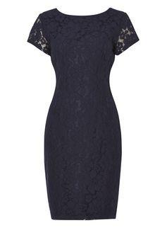 *Roman Originals Navy Lace Shift Dress
