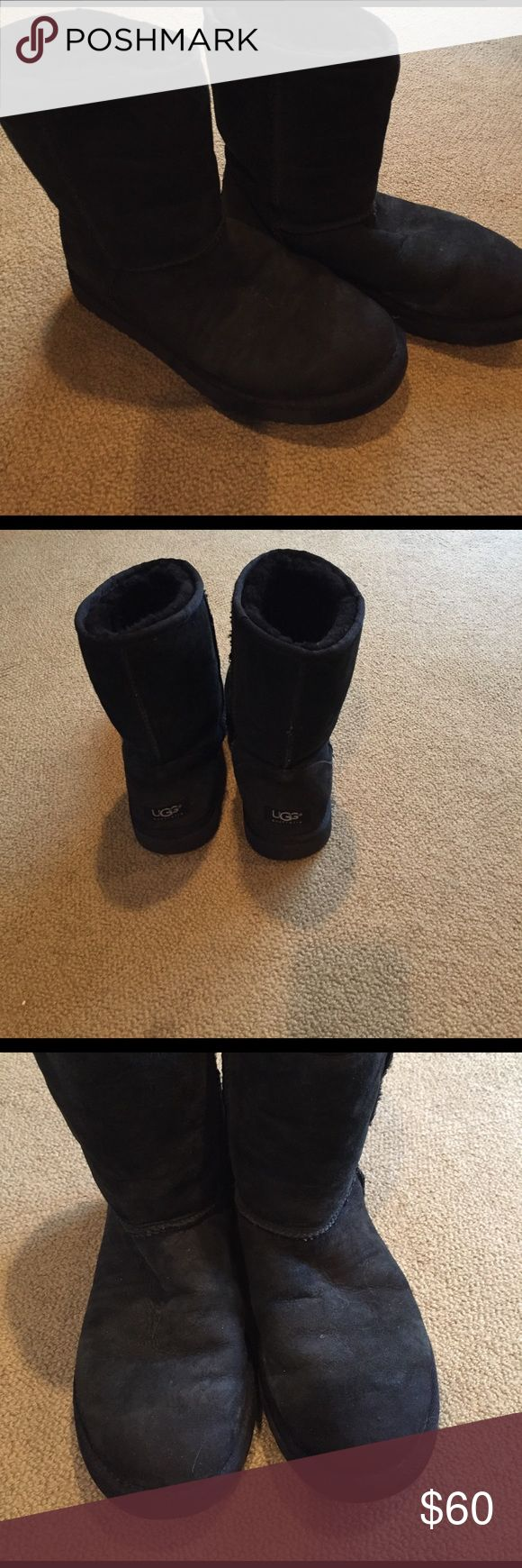 Black UGGs Short black UGGs UGG Shoes Winter & Rain Boots
