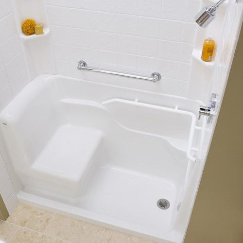 American Standard 3060sh Rw Acrylic Seated Safety Shower With