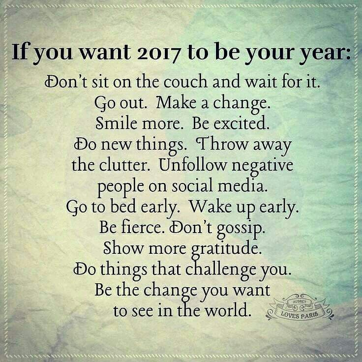#2017 #youryear #healthy #active #unfollownegative #challenge #quote #change #healthieryou