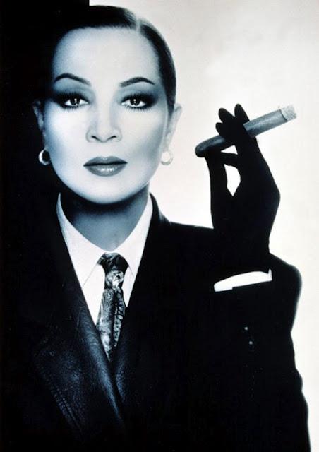 Sara Montiel - Cigar Smoker