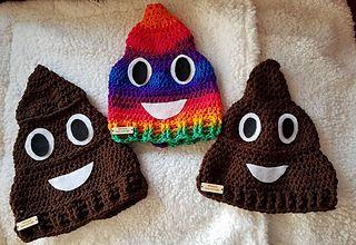 Poop Emoji hat pattern.