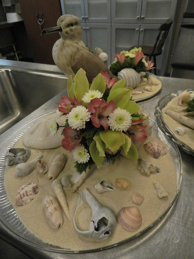 Beach theme bridal shower centerpiece the sophisticated