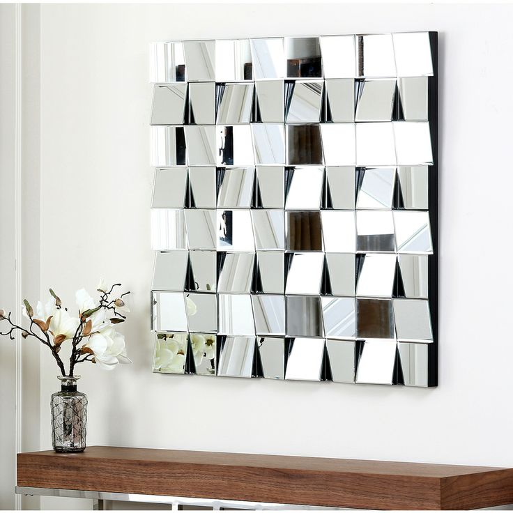 Give Your Home Or Office A New Look With The Isabella Square Wall Mirror  From Abbyson Living. This Stunning Accent Features Distinct Angles And A ...