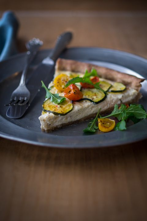 ... and Cherry Tomato Tart with Buckwheat Olive Oil Crust - BakeNoir.com