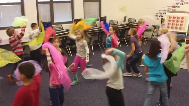 """Fourth Grade Nutcracker Choreography - Chinese Dance by Kelly Schenbeck Riley. Fourth graders created their own choreography for some of the dances from Act II of Tchaikovsky's """"The Nutcracker"""" ballet. Here is Mrs. Triplett's class with """"Chinese Dance."""""""