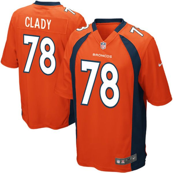 Ryan Clady Denver Broncos Nike Youth Team Color Game Jersey - Orange - $69.99