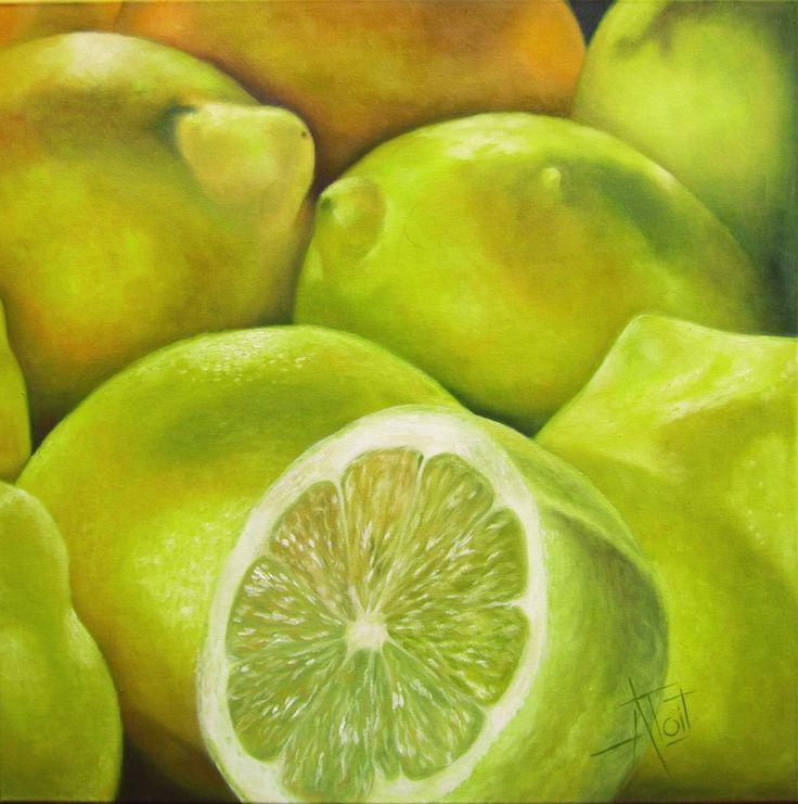 Lemons Oil on canvas 60cm x 60cm SOLD