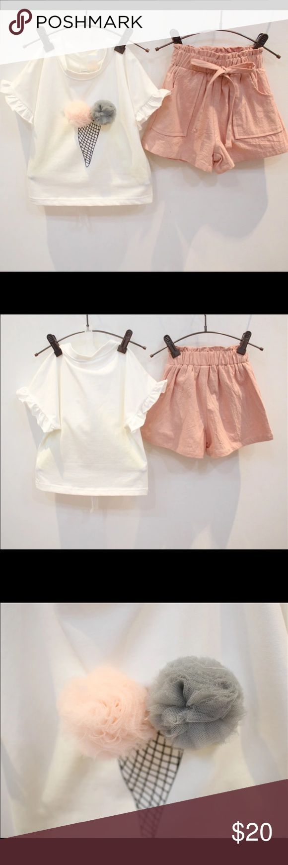 Ice Cream tee & Short Set Ice Cream tshirt with a linen short. Matching Sets
