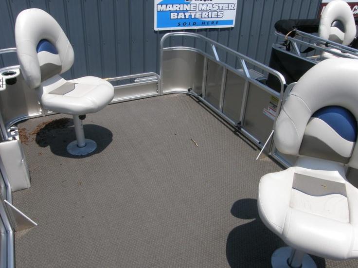 2012 - Gillgetter Pontoon Boats - 613 Tiller for Sale Inside View. http://boats.iboats.com