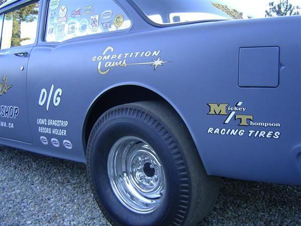 55 Gasser Lions Lettering Rear Quarter 1sm Jpg Chevy 55 Chevy 1955 Chevy