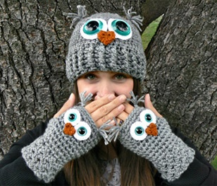 Makings of Shanna Tice --  Product: Adult owl hat  Price: $27.95
