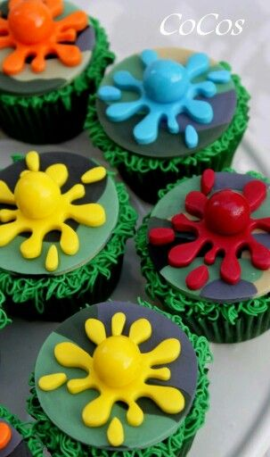 paintball cupcakes by