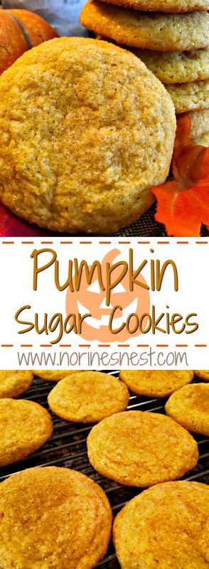 Light and Fluffy Melt In Your Mouth Pumpkin Spiced Sugar Cookies are delightfully delicious and super easy to make! You will want to make them again and again! Super soft and yummy!