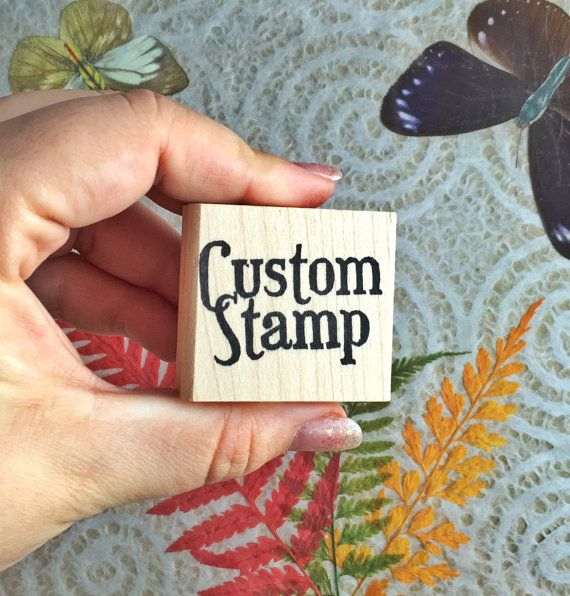 Have your own design hand carved and made into a stamp so that you can create your own custom cards, stationary, or anything else you can imagine.