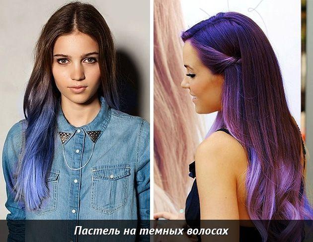 Все про мелки для волос - тайны сухой пастели