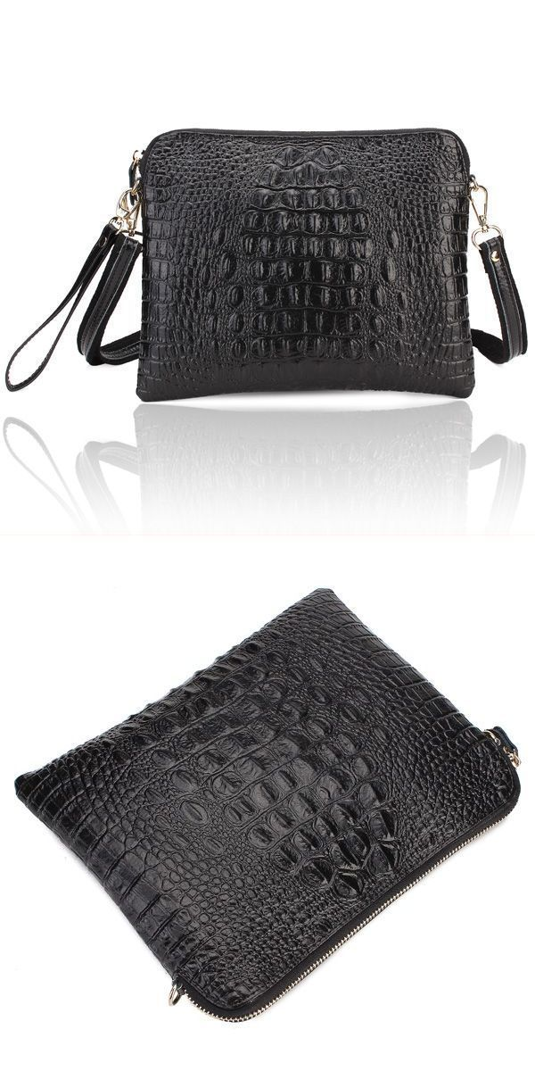 Women 8217 S Crocodile Pattern Clutch Bags Pu Leather Shoulder Messenger Handbag Vogue Coach Gucci