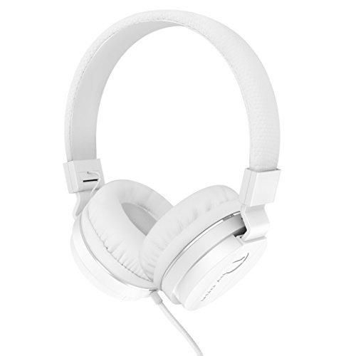 1byone Children Wired Headset Portable Foldable with Stereo Bass White