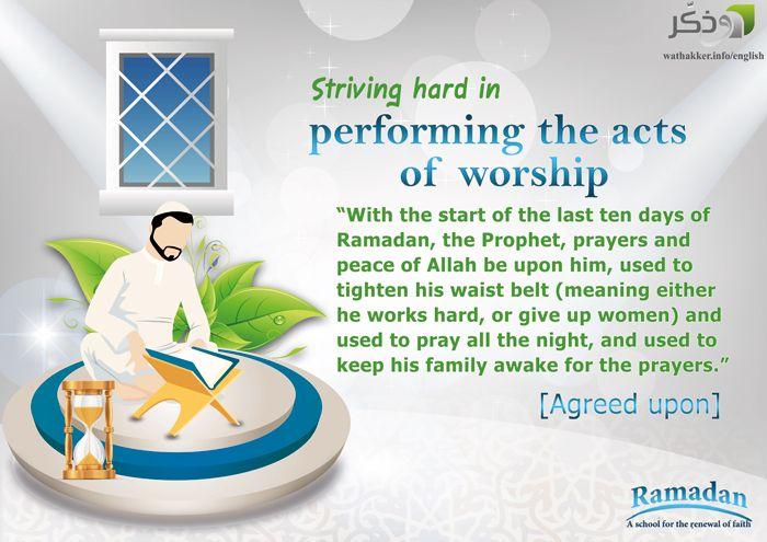 Striving hard in worship