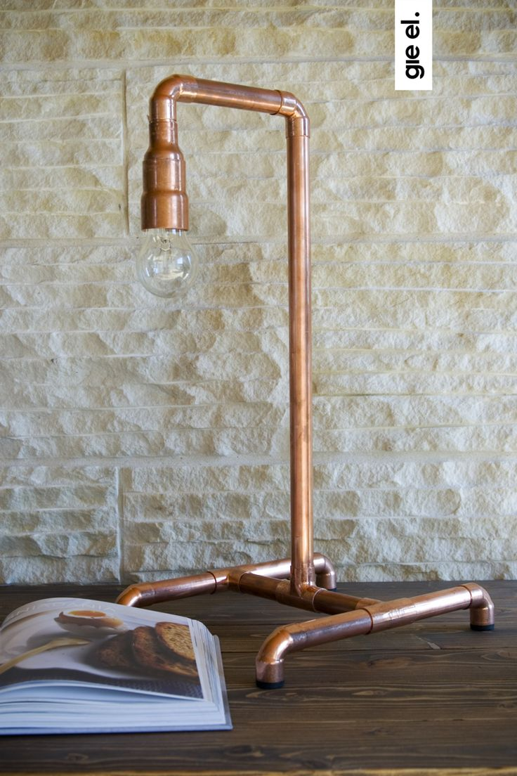 Copper table lamp Gie El