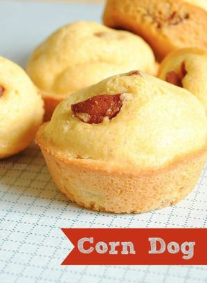 Corn dogs, Corn dog muffins and Recipes for toddlers on Pinterest