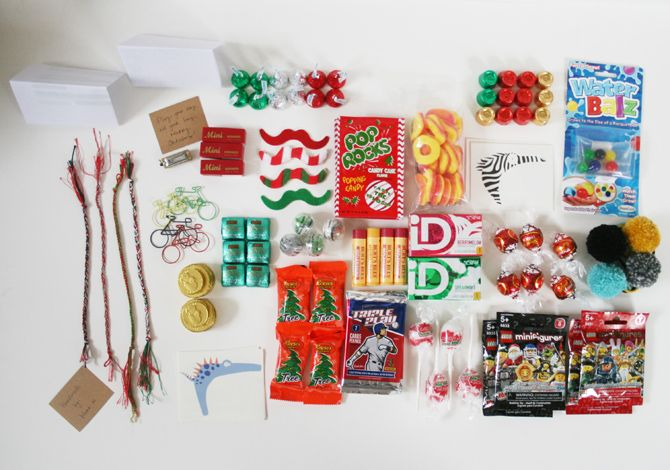 DIY kraft bags advent calendar, ideas for what to put in the bags via seejaneblog: