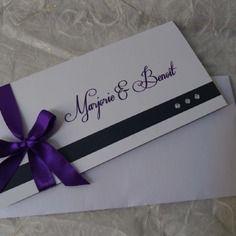 Faire part mariage chic violet