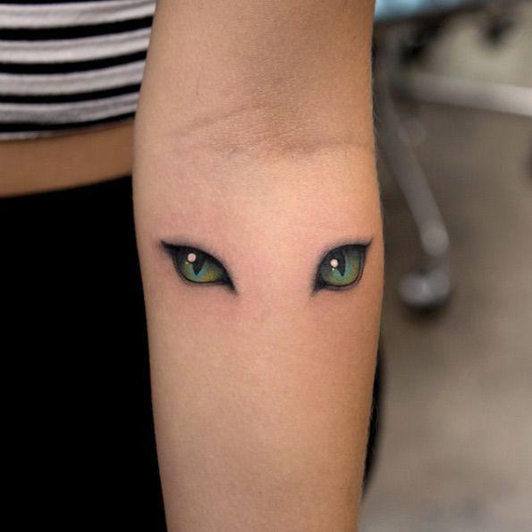 Cat Eyes Tattoo by Georgia Grey