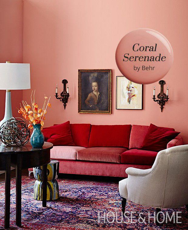 Best 25 coral walls ideas on pinterest coral pink for Coral walls living room