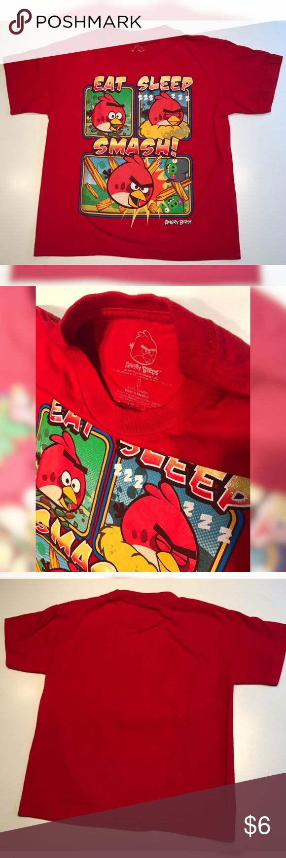 Angry Birds Shirt. Angry Bords Shirt. New Condition. Shirts & Tops