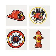 FIREFIGHTER PARTY FAVOUR  Tattoos Temporary Tattoo Pack of 36 Free Postage