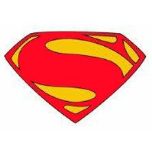 """Superman Wearable Sticker (includes 4 pcs of 5.5"""" wearable stickers in a pack)"""