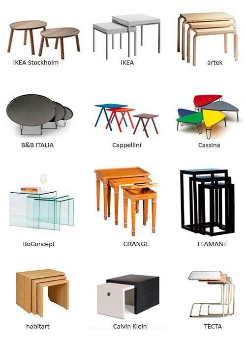 Mesas nido, son ideales para espacios pequeños • Nesting tables