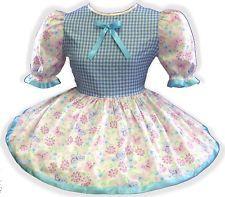 "40"" Pink Blue Gingham Adult Little Girl Baby Sissy Boy Crossdresser Dress LEANNE"