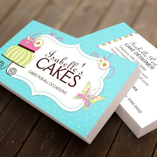 Customizable Whimsical Bakery Business Card