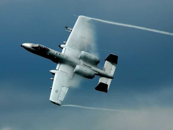 aircraft military vehicles A-10 Thunderbolt II vortex Vapor Trails  / 1600x1200 Wallpaper