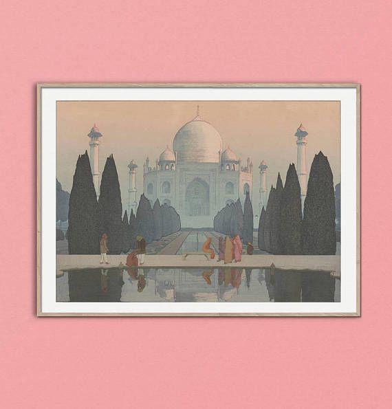 Taj Mahal Day Ukiyo-e Japanese Wood Block Print Hiroshi