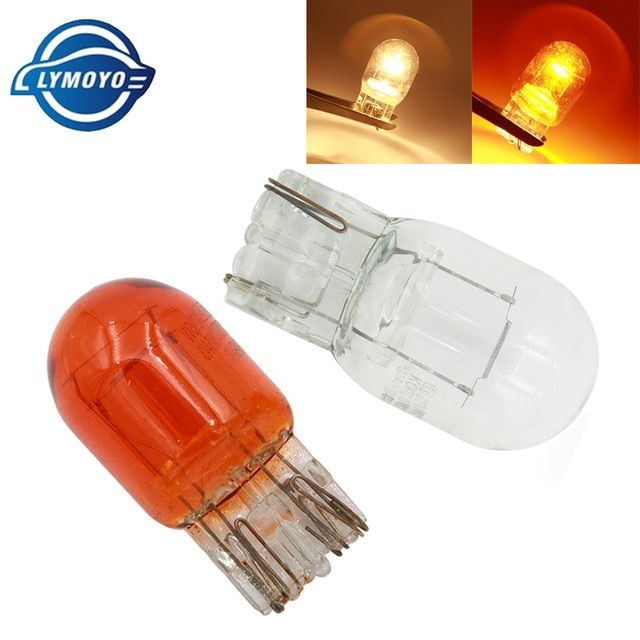 Lymoyo 10pcs Car T20 7440 7443 Halogen Lamp 12v W21 5w Warm White Brake Bulbs Tail Light Stop Light Rear Turn Signal Drl 12v Halogen Lamp Stop Light Tail Light