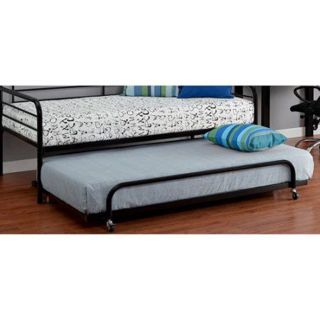 Twin Metal Daybed Trundle, Black