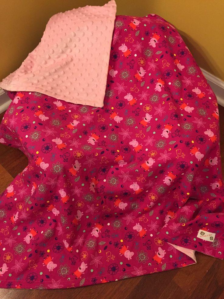 Peppa Pig Blanket by MonkeyandMiss on Etsy https://www.etsy.com/listing/274437272/peppa-pig-blanket