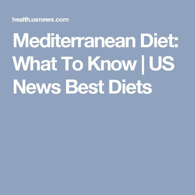 Mediterranean Diet: What To Know | US News Best Diets