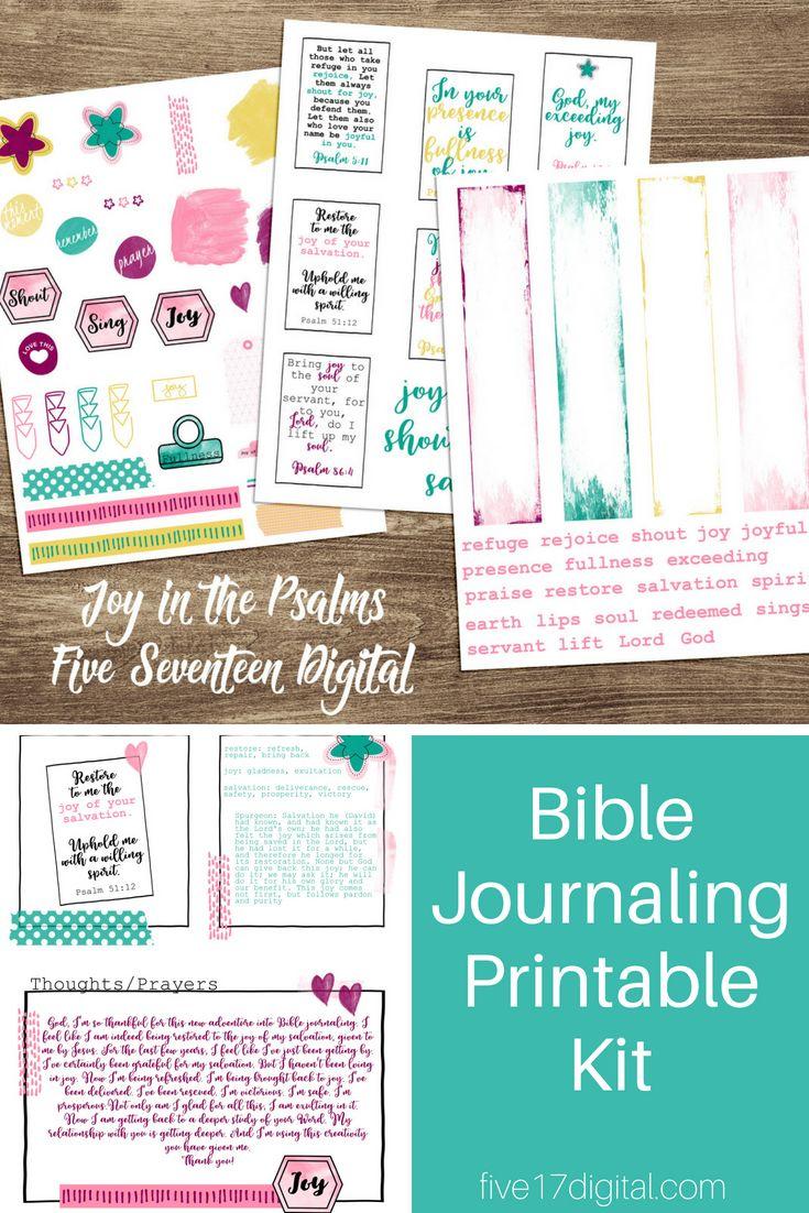 Bible Journaling Kit, Joy in the Psalms, Journaling